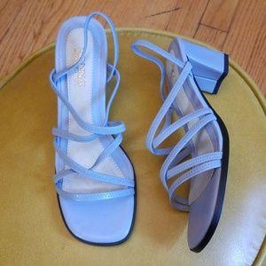 VTG Donna Lawrence Powder Blue Strappy Sandals